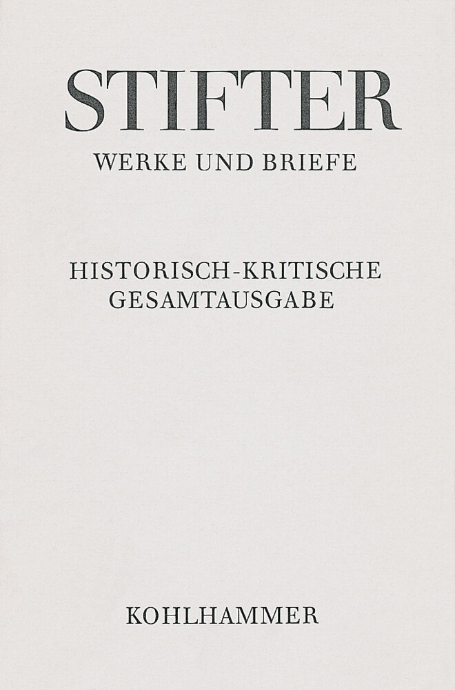 Werke und Briefe I/4. Studien, Buchfassungen I als Buch