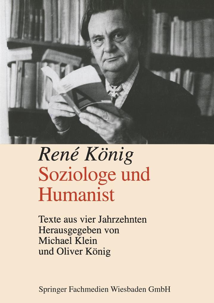 René König, Soziologe und Humanist als Buch