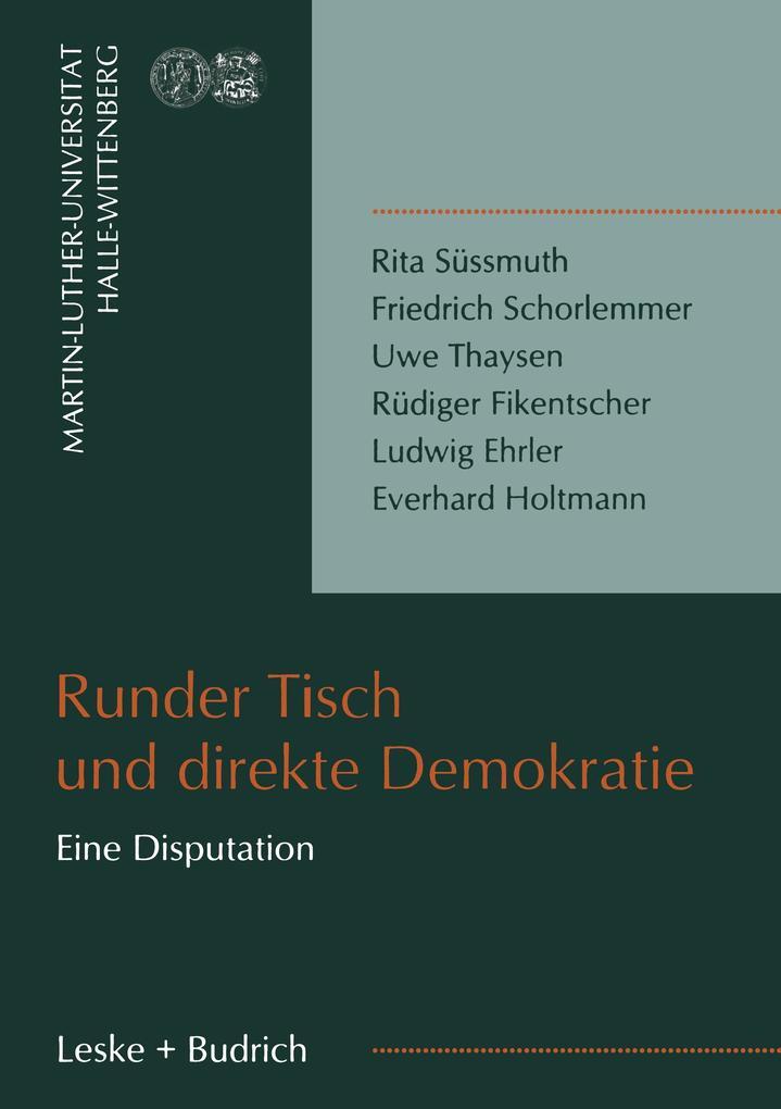 Runder Tisch und direkte Demokratie als Buch