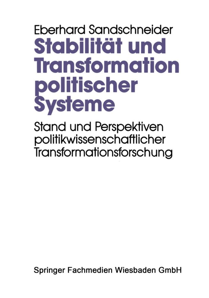 Stabilität und Transformation politischer Systeme als Buch