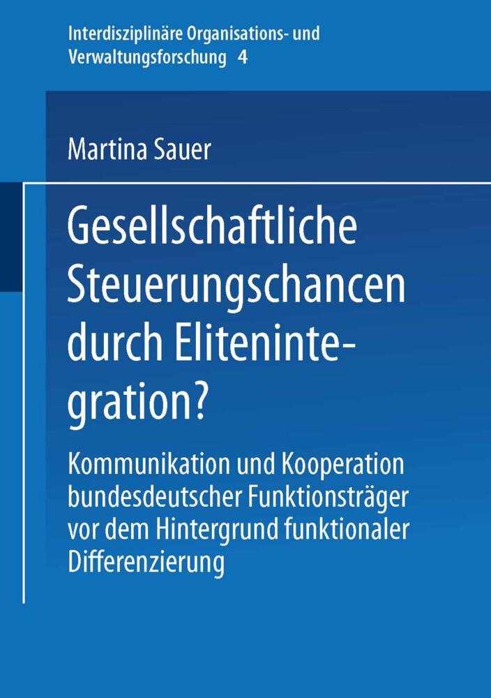 Gesellschaftliche Steuerungschancen durch Elitenintegration? als Buch