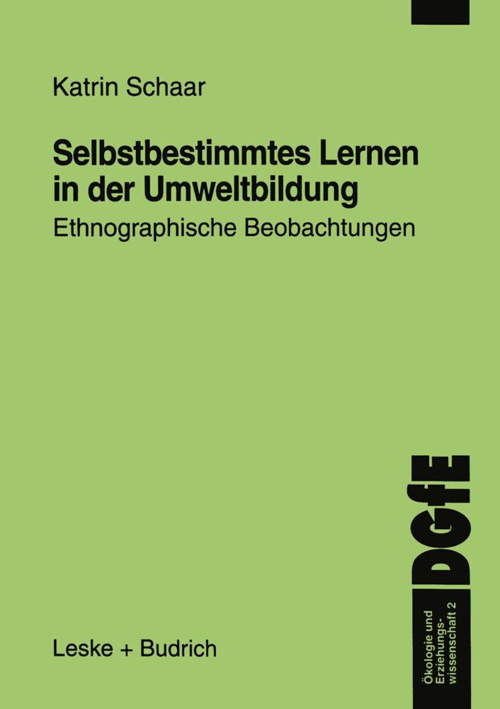 Selbstbestimmtes Lernen in der Umweltbildung als Buch