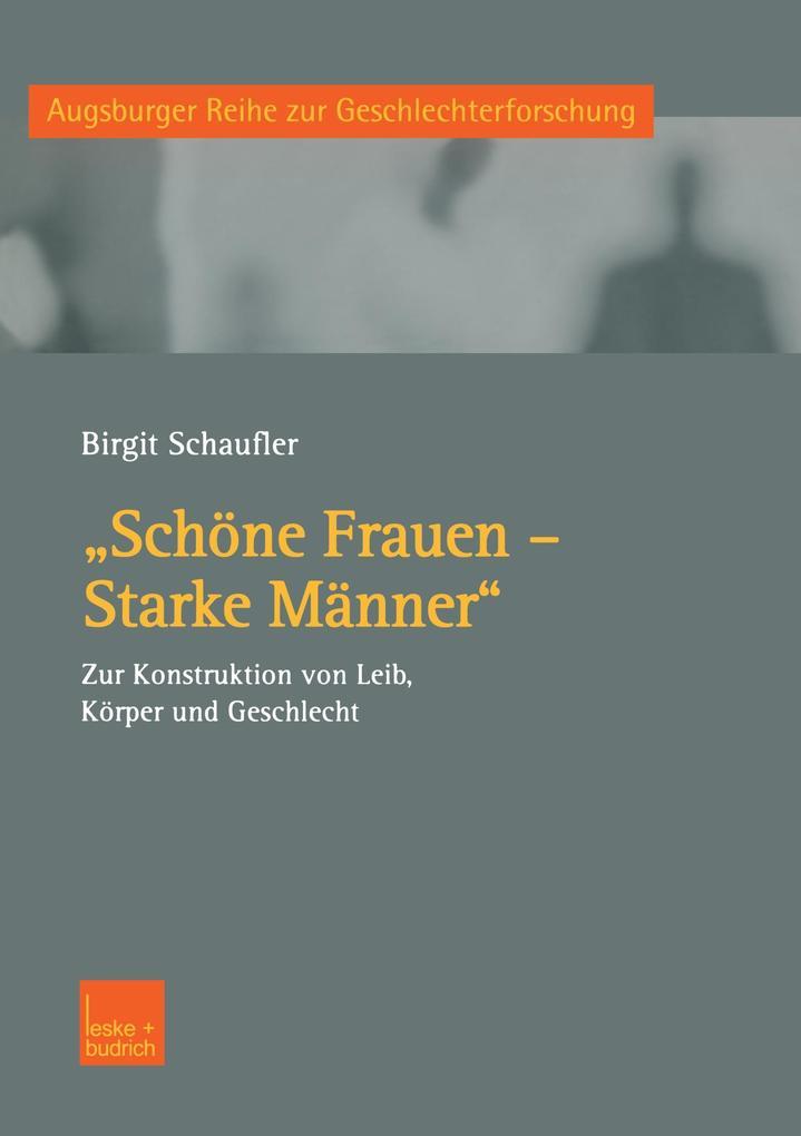 """""""Schöne Frauen - Starke Männer"""" als Buch"""