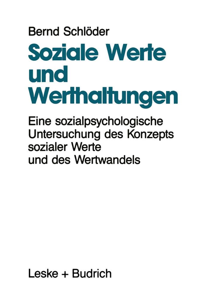Soziale Werte und Werthaltungen als Buch