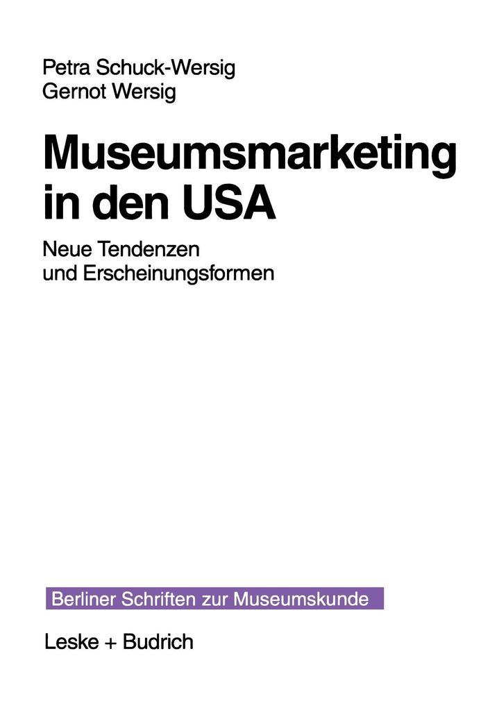 Museumsmarketing in den USA als Buch