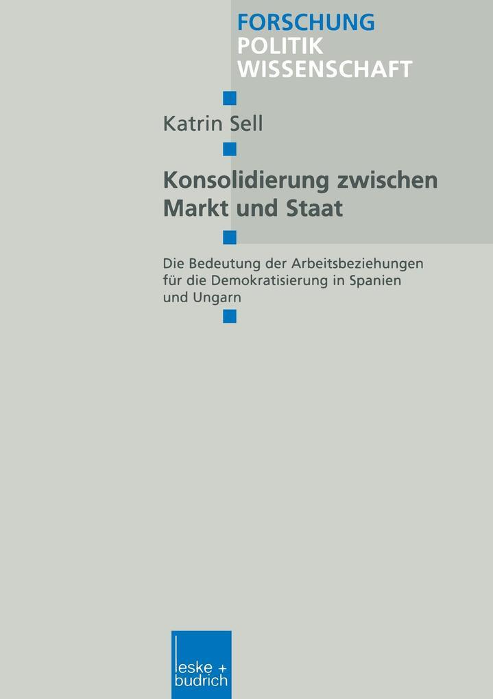 Konsolidierung zwischen Markt und Staat als Buch