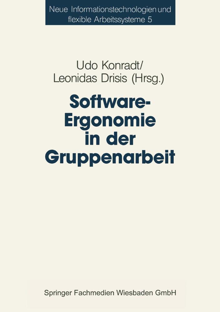 Software-Ergonomie in der Gruppenarbeit als Buch
