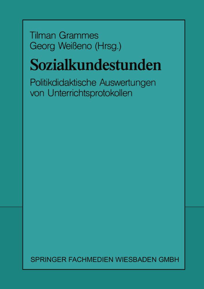 Sozialkundestunden als Buch