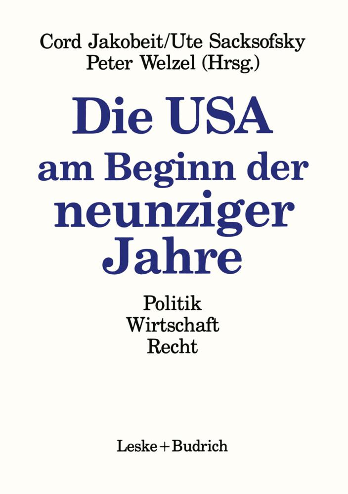 Die USA am Beginn der neunziger Jahre als Buch