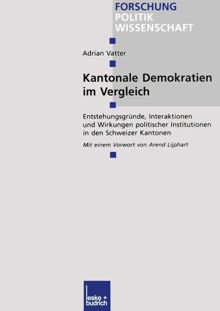 Kantonale Demokratien im Vergleich als Buch