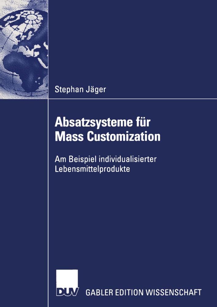 Absatzsysteme für Mass Customization als Buch