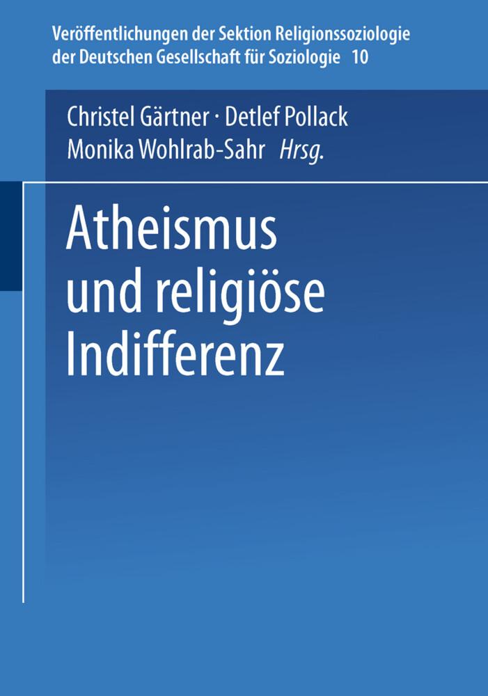 Atheismus und religiöse Indifferenz als Buch
