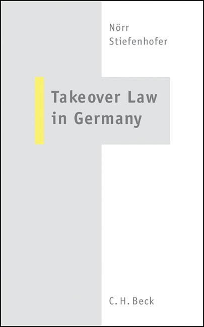Takeover Law in Germany als Buch