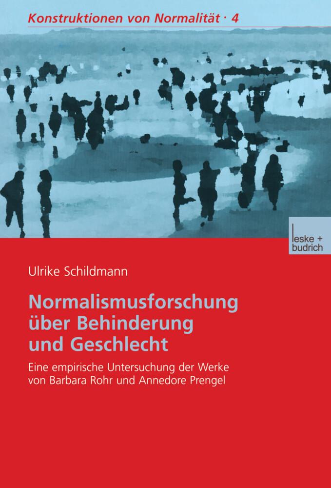 Normalismusforschung über Behinderung und Geschlecht als Buch