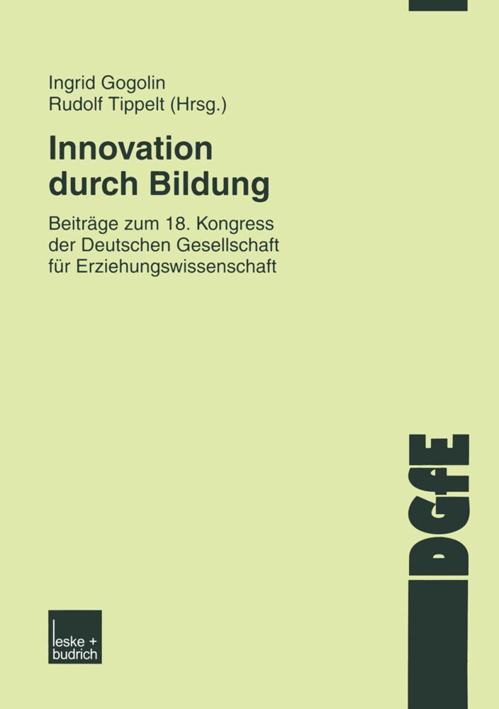 Innovation durch Bildung als Buch