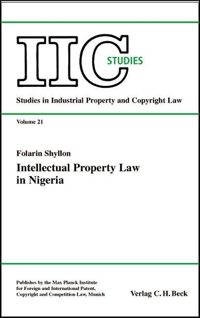 Intellectual Property Law in Nigeria als Buch