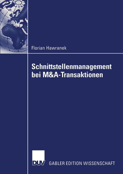 Schnittstellenmanagement bei M&A-Transaktionen als Buch