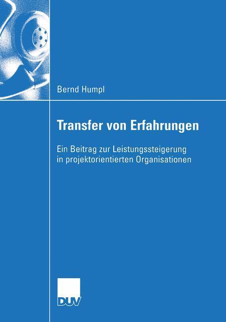 Transfer von Erfahrungen als Buch