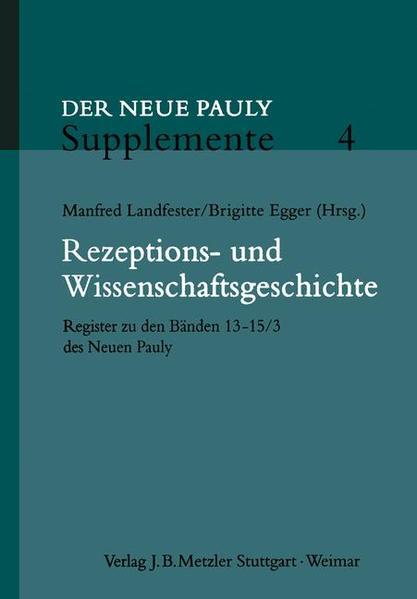 Rezeptions- und Wissenschaftsgeschichte als Buch
