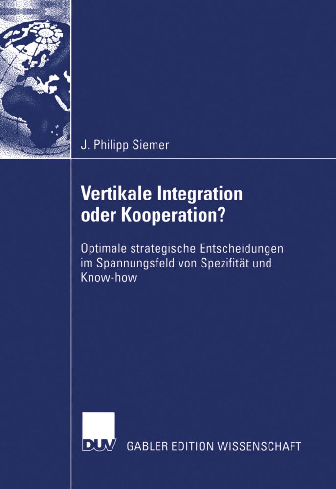 Vertikale Integration oder Kooperation? als Buch