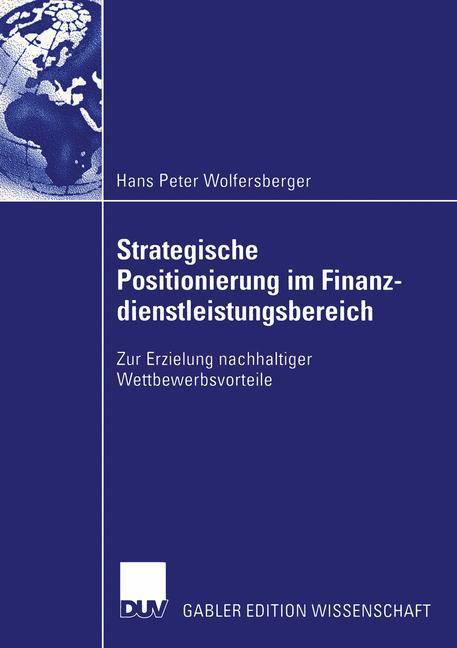 Strategische Positionierung im Finanzdienstleistungsbereich als Buch