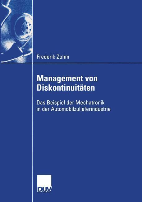 Management von Diskontinuitäten als Buch