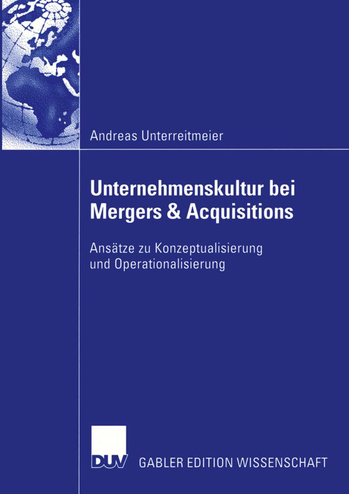 Unternehmenskultur bei Mergers & Acquisitions als Buch