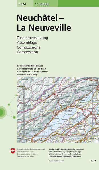 Swisstopo 1 : 50 000 Neuchâtel Les Verrières - La Neuveville als Buch