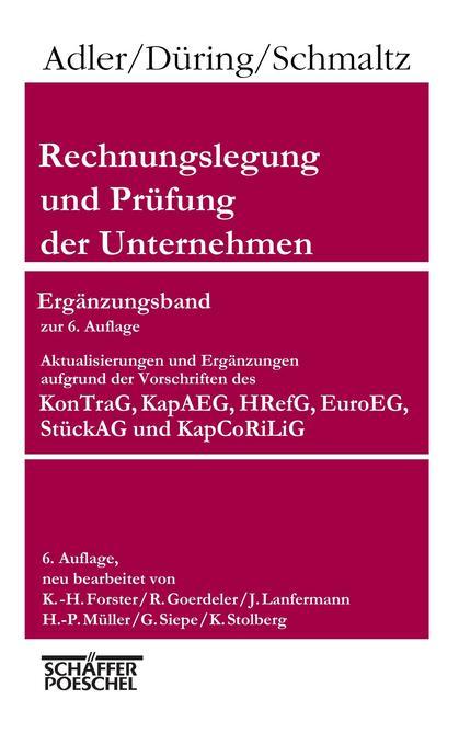 Rechnungslegung und Prüfung der Unternehmen, 6. Aufl., 9 Bd. als Buch