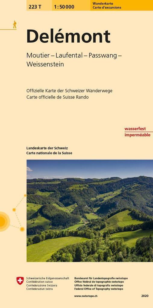 Swisstopo 1 : 50 000 Delémont als Buch