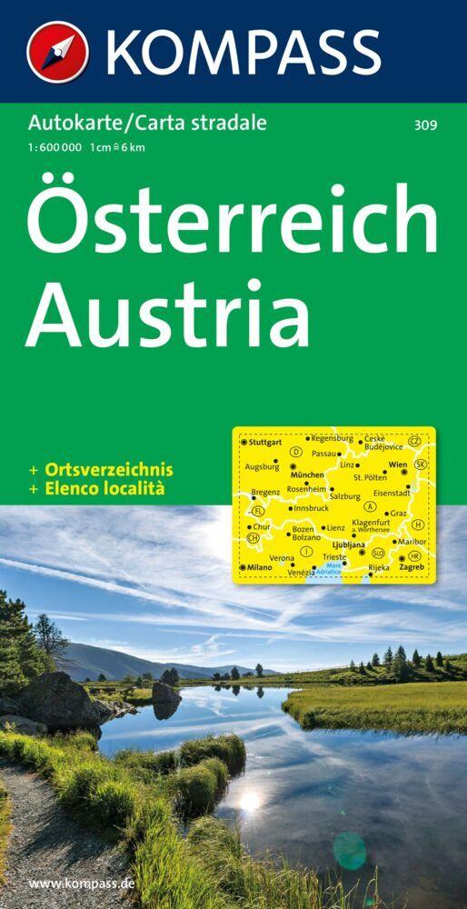 Österreich 1 : 600 000 als Buch