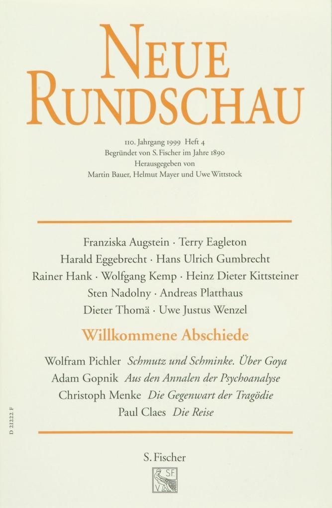 Neue Rundschau 99/4 als Buch