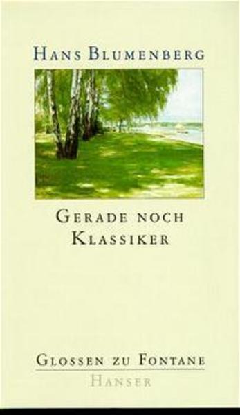 Gerade noch Klassiker als Buch