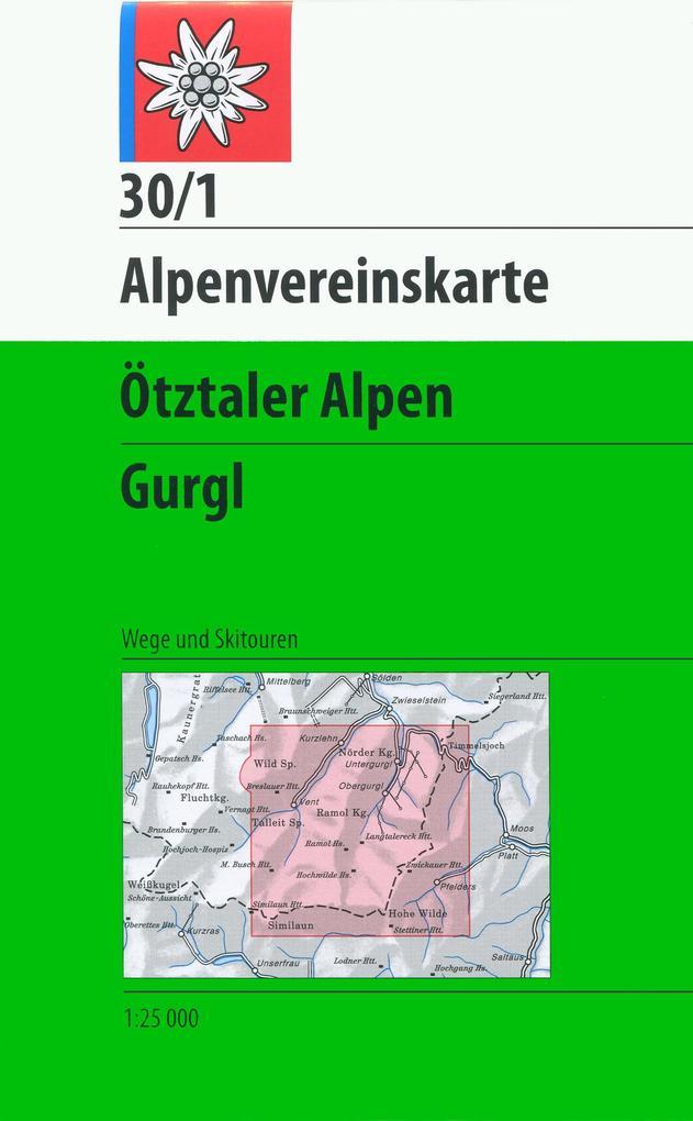 DAV Alpenvereinskarte 30/1 Ötztaler Alpen Gurgl 1 : 25 000 als Buch
