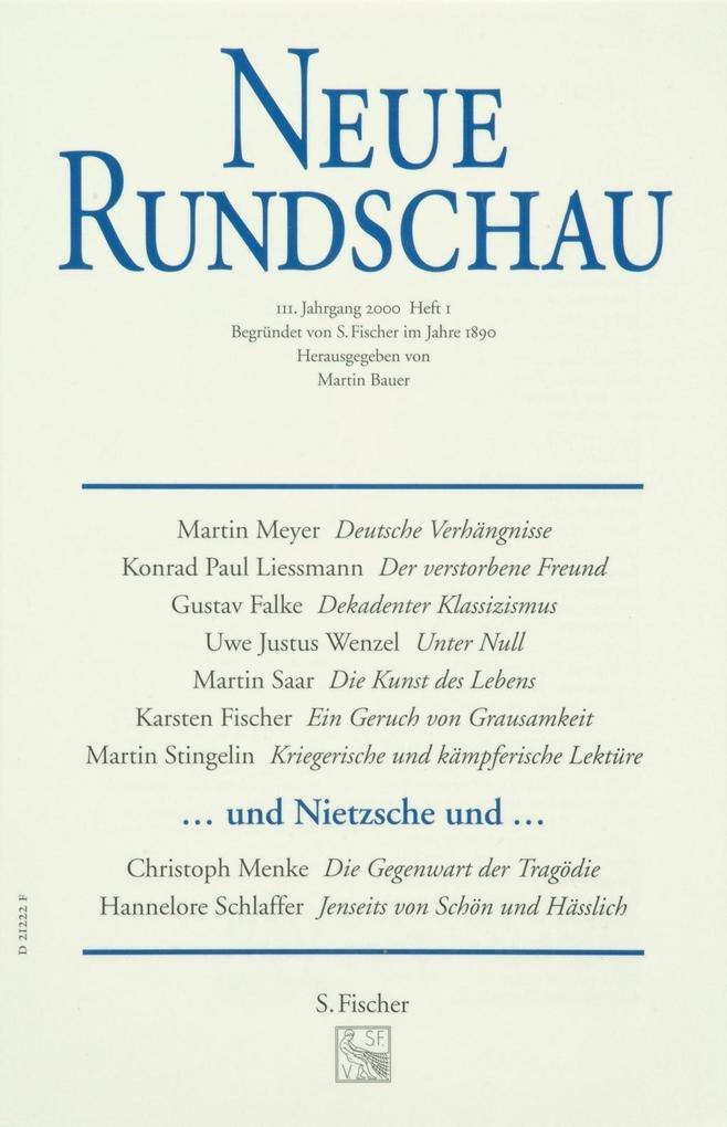 Neue Rundschau 2000/1 als Buch