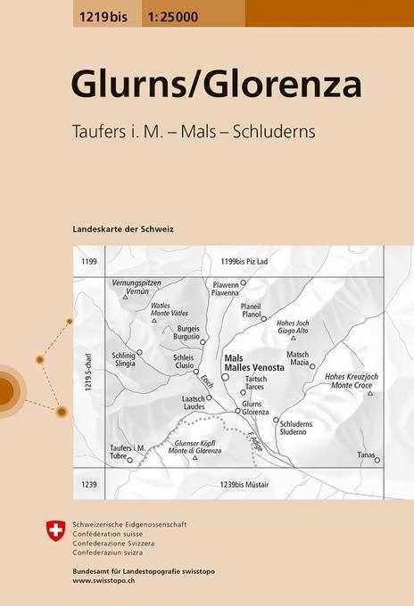 Swisstopo 1 : 25 000 Glorenza / Glurns als Buch