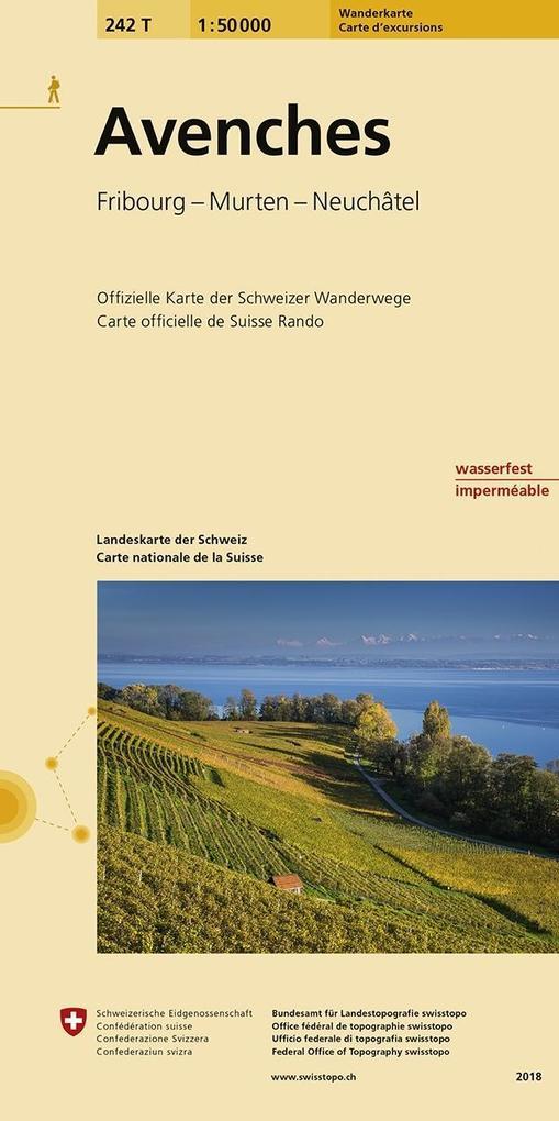 Swisstopo 1 : 50 000 Avenches als Buch