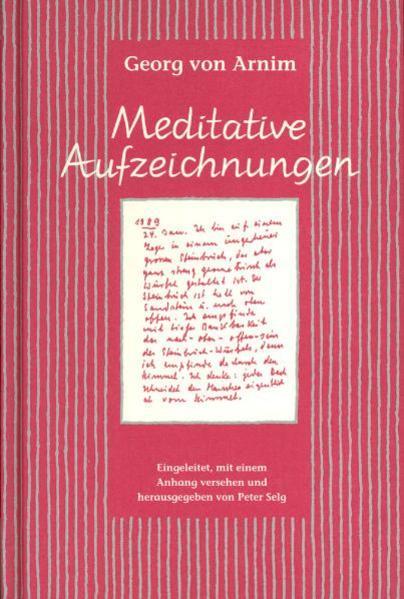 Meditative Aufzeichnungen als Buch
