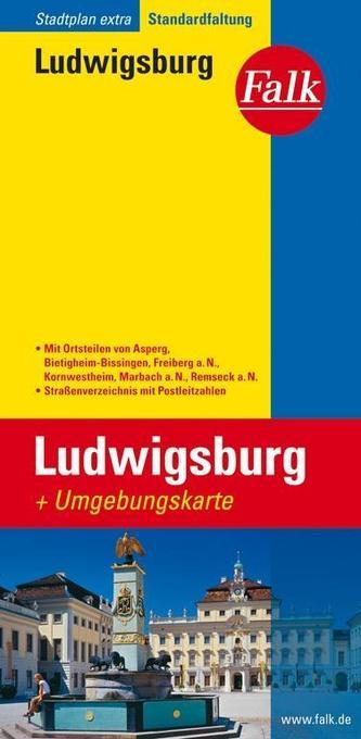 Falk Stadtplan Extra Standardfaltung Ludwigsbur...