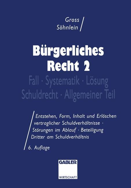 Bürgerliches Recht 2 als Buch