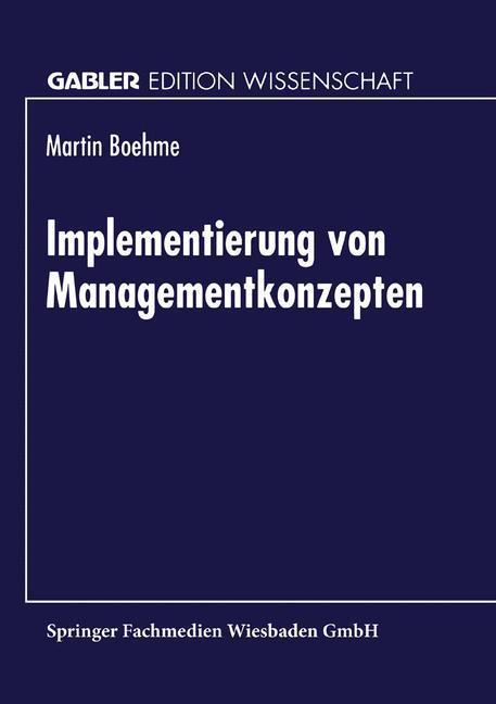 Implementierung von Managementkonzepten als Buch