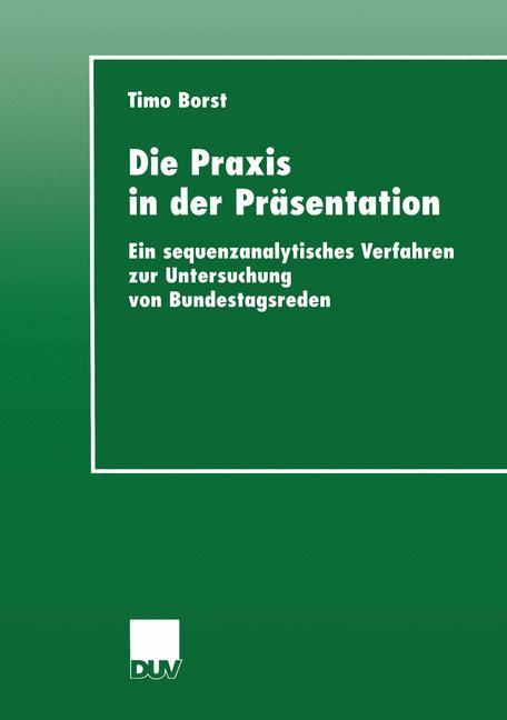 Die Praxis in der Präsentation als Buch