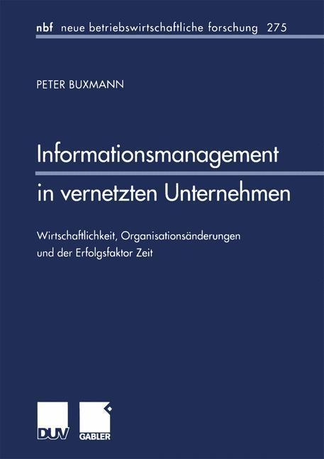 Informationsmanagement in vernetzten Unternehmen als Buch