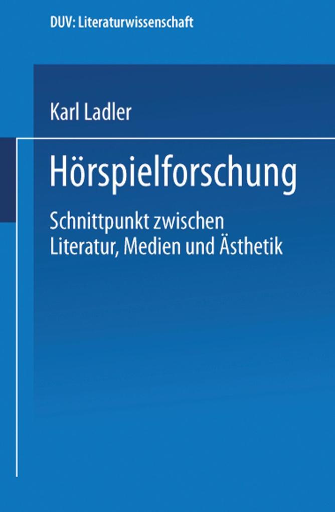 Hörspielforschung als Buch