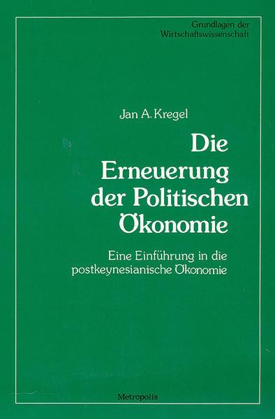 Die Erneuerung der Politischen Ökonomie als Buch