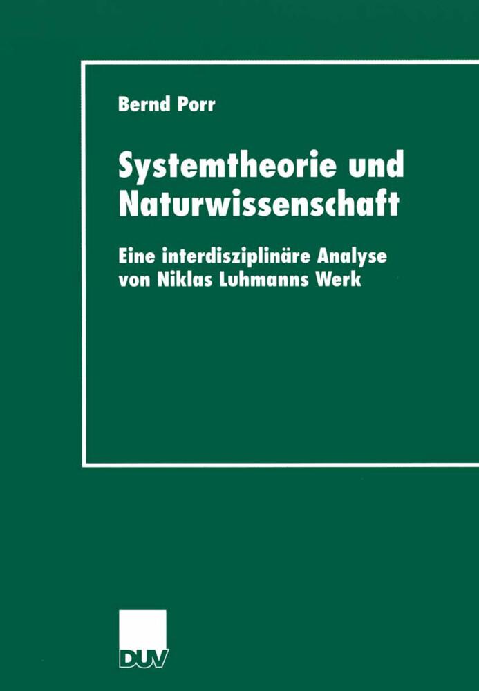 Systemtheorie und Naturwissenschaft als Buch