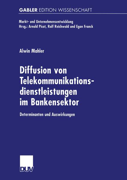 Diffusion von Telekommunikationsdienstleistungen im Bankensektor als Buch