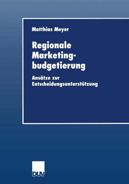 Regionale Marketingbudgetierung als Buch