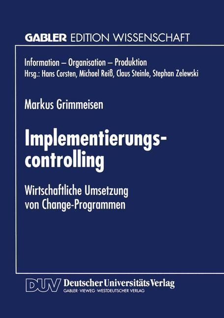 Implementierungscontrolling als Buch