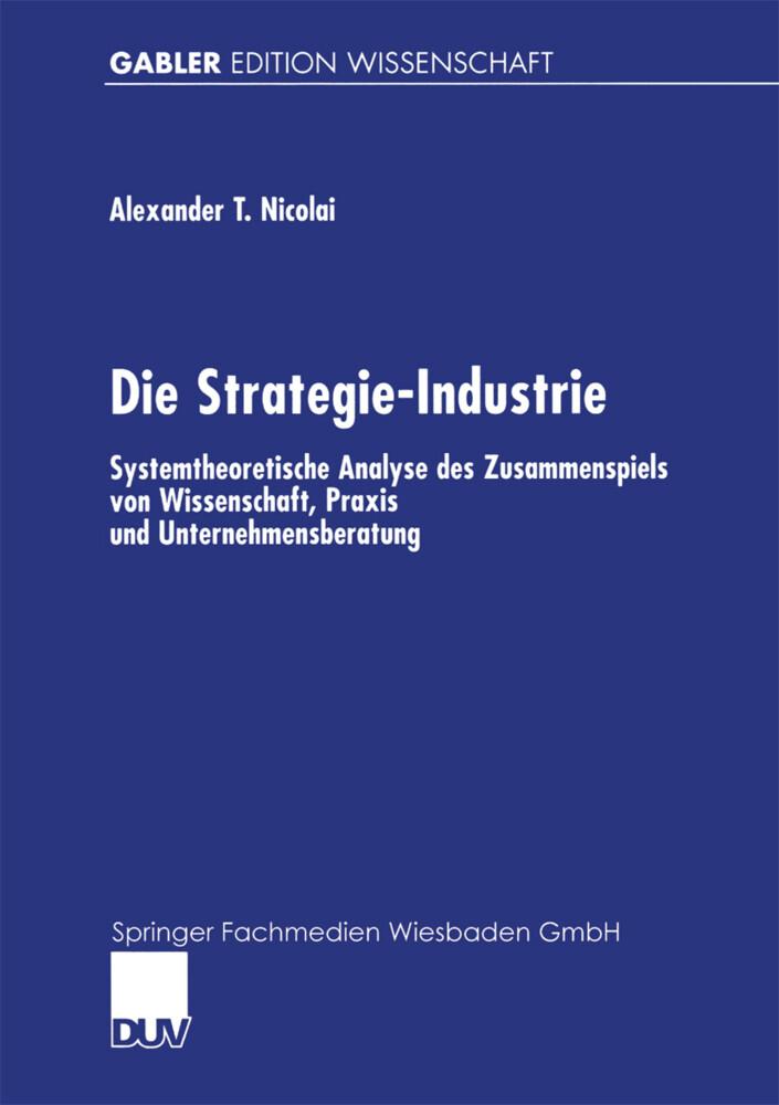 Die Strategie-Industrie als Buch